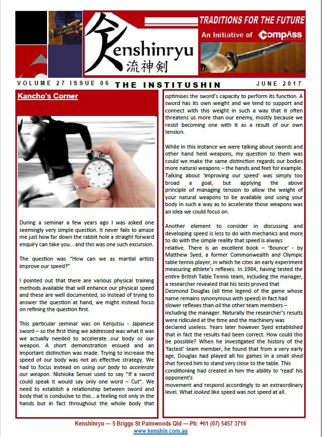 Kenshin Newsletter - June